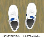 a pair of white sneakers with... | Shutterstock .eps vector #1159693663