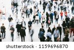 blurred people in a modern hall | Shutterstock . vector #1159696870