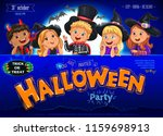 halloween party poster ready... | Shutterstock .eps vector #1159698913