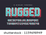 rugged vector stylish 3d... | Shutterstock .eps vector #1159698949