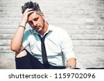 depressed unsuccessful... | Shutterstock . vector #1159702096