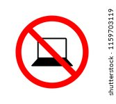 not allowed computer icon.... | Shutterstock .eps vector #1159703119