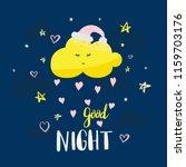 vector template night cards... | Shutterstock .eps vector #1159703176