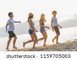 group of friends having fun... | Shutterstock . vector #1159705003
