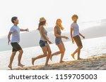 group of friends having fun... | Shutterstock . vector #1159705003