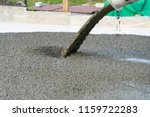 pouring concrete from a... | Shutterstock . vector #1159722283