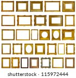 set of 30 gold picture frames.... | Shutterstock . vector #115972444