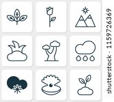 nature icons set with sprout ... | Shutterstock . vector #1159726369