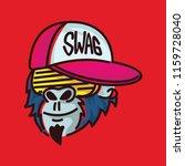 swag gangster gorilla shutter... | Shutterstock .eps vector #1159728040
