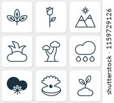ecology icons set with sprout ... | Shutterstock .eps vector #1159729126