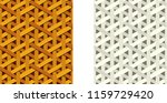 seamless weave rattan pattern ... | Shutterstock .eps vector #1159729420