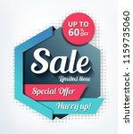 sale banner design | Shutterstock .eps vector #1159735060