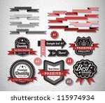 royal guarantee label and... | Shutterstock .eps vector #115974934