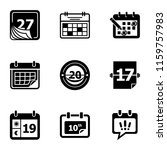 day planner icons set. simple...   Shutterstock .eps vector #1159757983