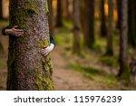 hugging a tree | Shutterstock . vector #115976239