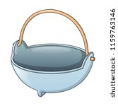 cauldron for fire camp icon.... | Shutterstock .eps vector #1159763146