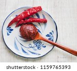 korean sources red pepper paste ... | Shutterstock . vector #1159765393