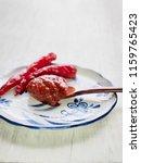korean sources red pepper paste ...   Shutterstock . vector #1159765423
