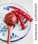 korean sources red pepper paste ...   Shutterstock . vector #1159765429