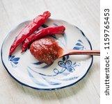 korean sources red pepper paste ...   Shutterstock . vector #1159765453