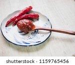 korean sources red pepper paste ...   Shutterstock . vector #1159765456