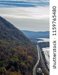 Small photo of Fall in the Hudson valley between Breakneck ridge and Colds Spring