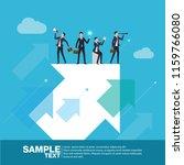 business team concept finance... | Shutterstock .eps vector #1159766080