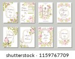 set of card with wiid rose ... | Shutterstock . vector #1159767709