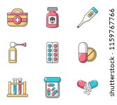 treat poisoning icons set.... | Shutterstock .eps vector #1159767766