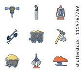 ore mining icons set. cartoon... | Shutterstock .eps vector #1159767769