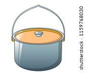 big cauldron for camp icon.... | Shutterstock .eps vector #1159768030