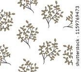 brunch leaves seamless pattern | Shutterstock .eps vector #1159769473