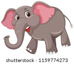 a cute elephant on white... | Shutterstock .eps vector #1159774273