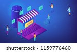isometric customers shopping... | Shutterstock .eps vector #1159776460