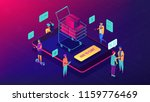 isometric customers purchasing... | Shutterstock .eps vector #1159776469