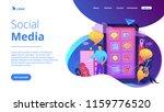 men near huge smartphone with... | Shutterstock .eps vector #1159776520