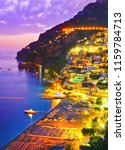 view of positano village along... | Shutterstock . vector #1159784713