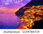view of positano village along... | Shutterstock . vector #1159784719