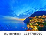 view of positano village along... | Shutterstock . vector #1159785010