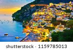 view of positano village along... | Shutterstock . vector #1159785013