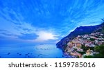 view of positano village along... | Shutterstock . vector #1159785016