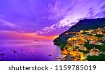 view of positano village along... | Shutterstock . vector #1159785019