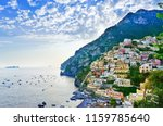 view of positano village along... | Shutterstock . vector #1159785640
