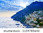 view of positano village along... | Shutterstock . vector #1159785643