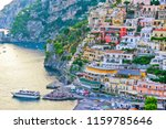 view of positano village along... | Shutterstock . vector #1159785646