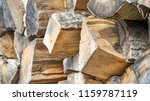 preparation of firewood for the ... | Shutterstock . vector #1159787119