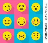 mood change icons set. flat set ... | Shutterstock .eps vector #1159790413