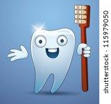 funny tooth 01  vector | Shutterstock .eps vector #115979050