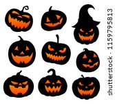 halloween pumpkin horror scary... | Shutterstock .eps vector #1159795813