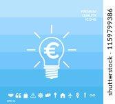 light bulb with euro symbol... | Shutterstock .eps vector #1159799386
